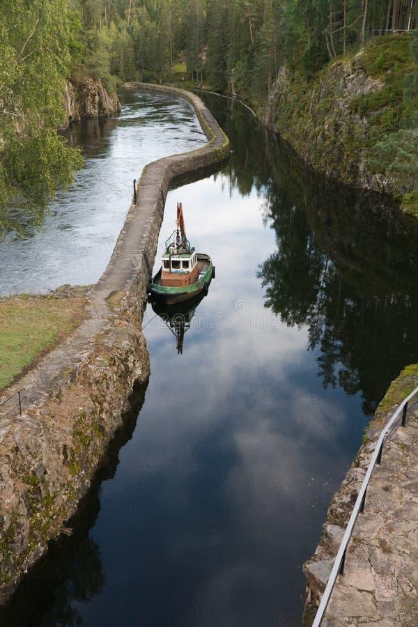 łódź stara obraz stock