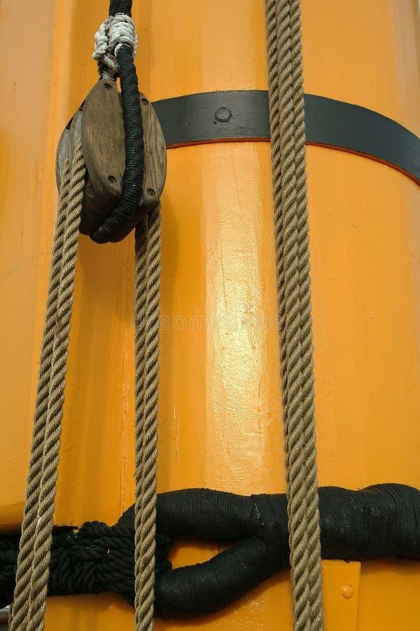 łódź szczegółów masztu żagla zdjęcie stock