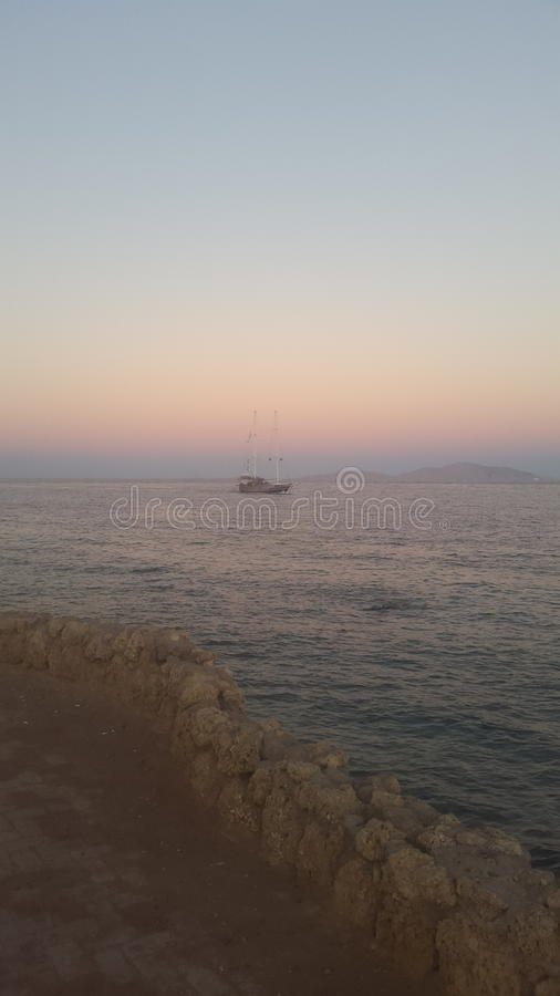 Łódź w czerwonym morzu Egipt obrazy stock