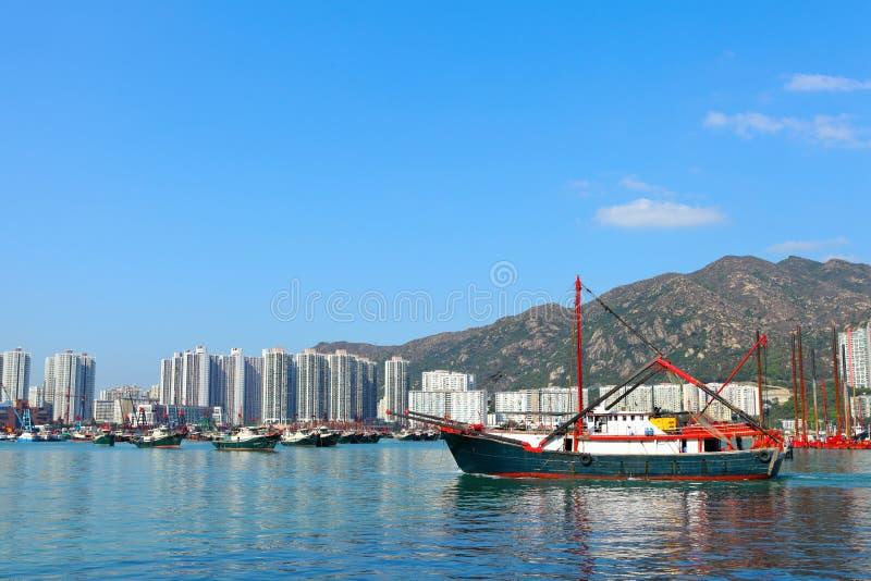 Łódź w Hong Kong, Tuen Mun obraz stock