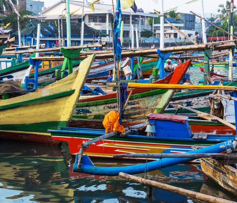 Łódź w Indonezja obrazy stock