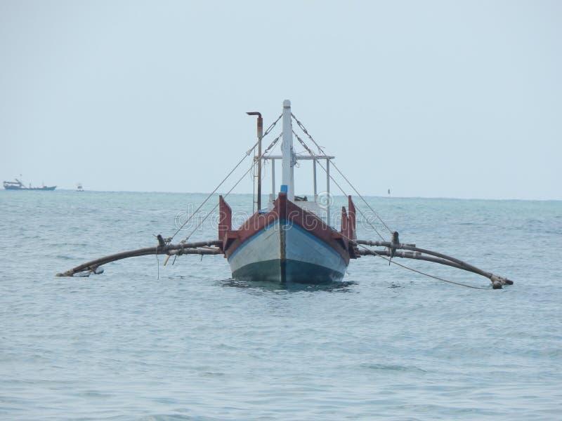 Łódź w morze w Azja fotografia stock
