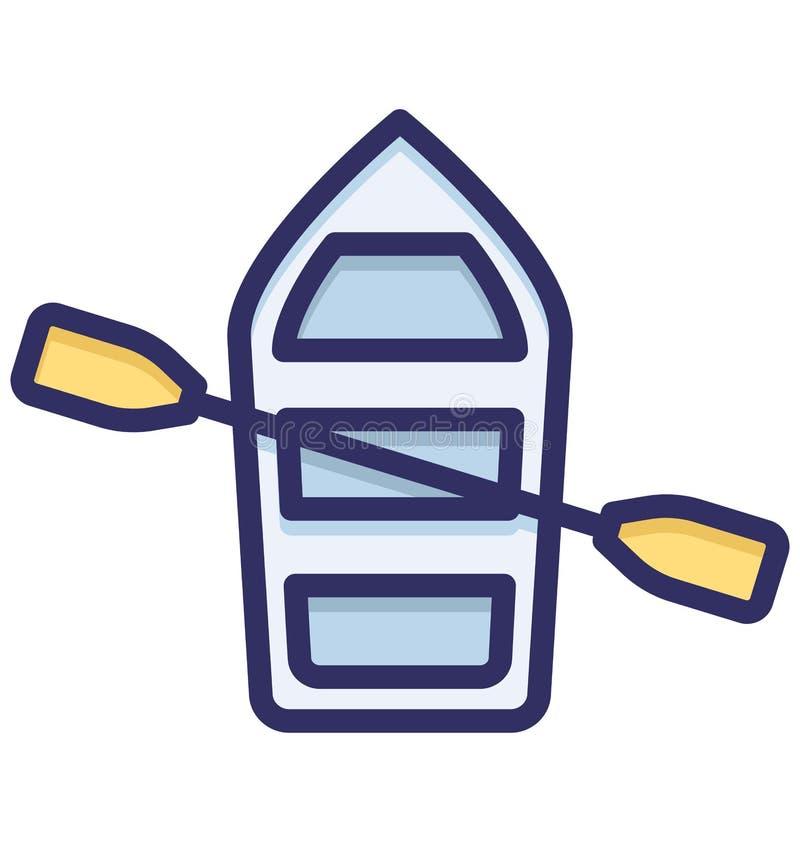 Łódź, wodniactwo Odizolowywał Wektorową ikonę która może łatwo redaguje lub modyfikująca ilustracja wektor