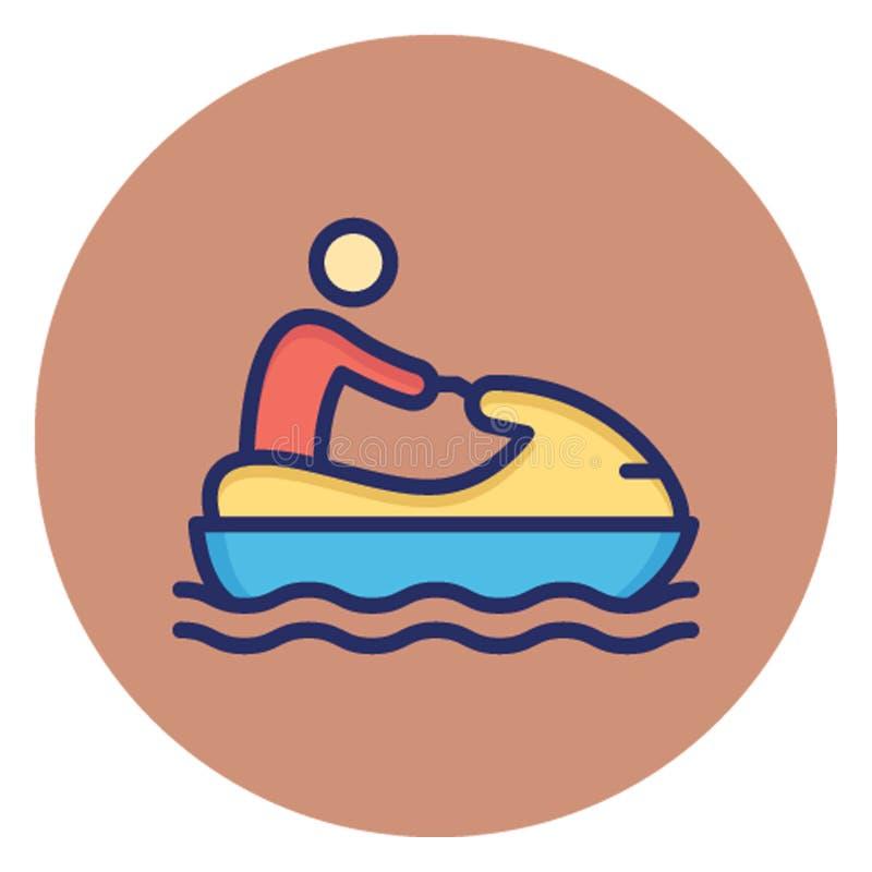 Łódź, wodniactwo Wektorowa ikona która może łatwo redagować ilustracji