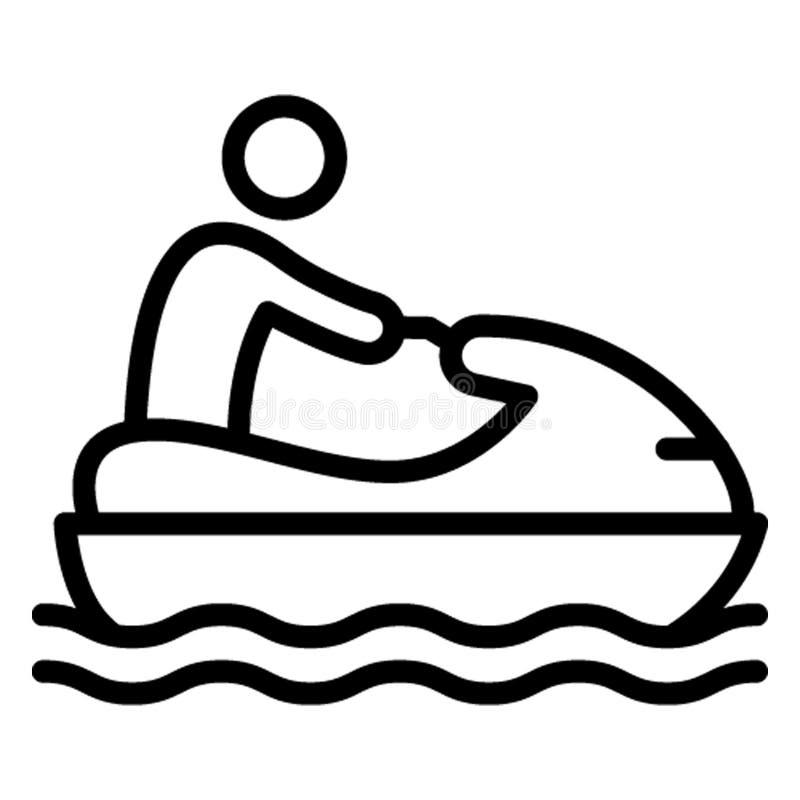 Łódź, wodniactwo Wektorowa ikona która może łatwo redagować ilustracja wektor