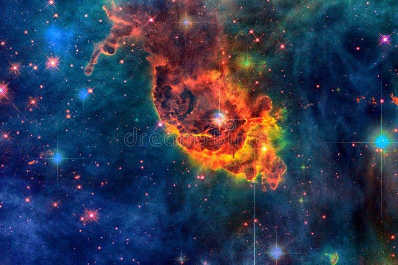 Łódeczki mgławica w kosmosie obraz royalty free