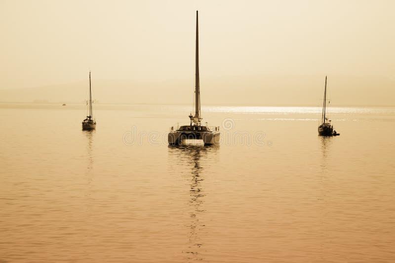 łódka żeglując obraz royalty free