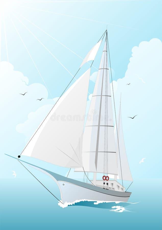 łódka żeglując royalty ilustracja