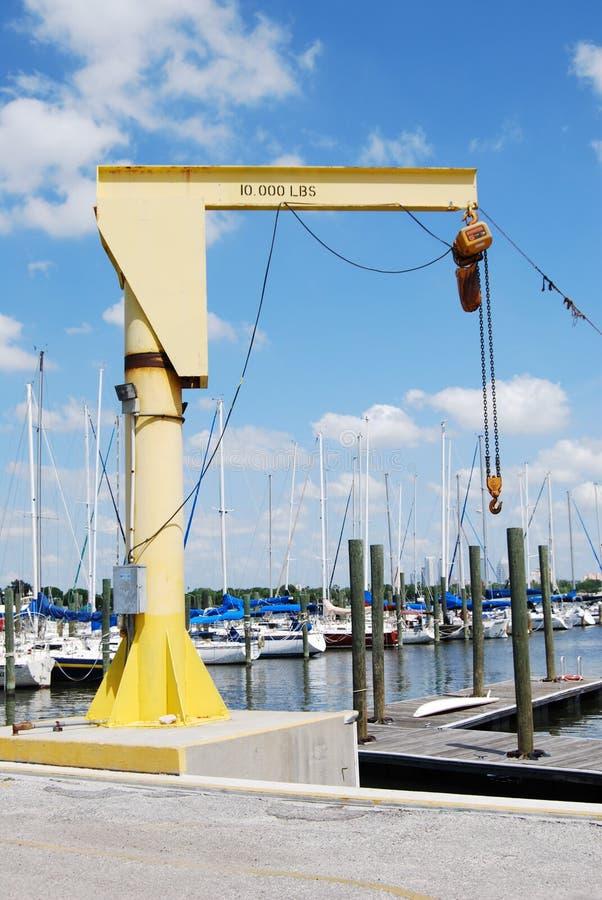 łódka dźwigu zdjęcia stock