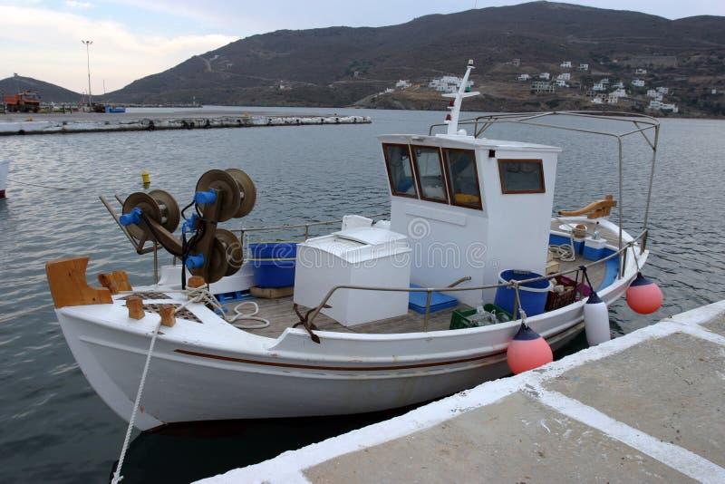 łódka jest rybakiem zdjęcie royalty free