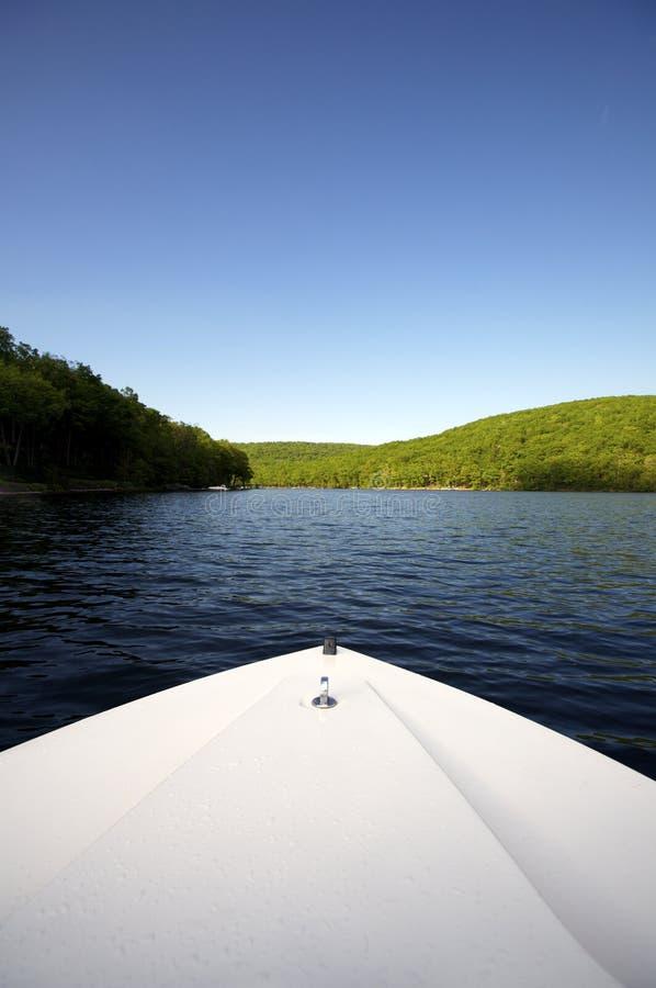 łódka widok jeziora zdjęcia stock