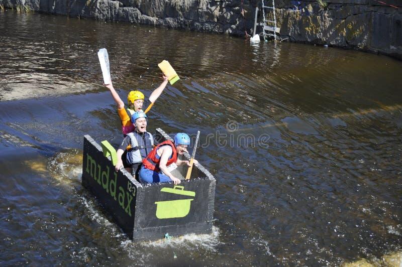 łódkowata śmieszna rasa obraz royalty free