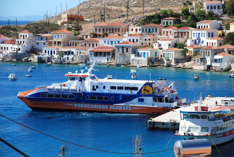 łódkowata catamaran promu halki wyspa zdjęcie royalty free