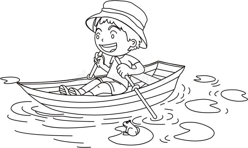 łódkowata chłopiec ilustracja wektor
