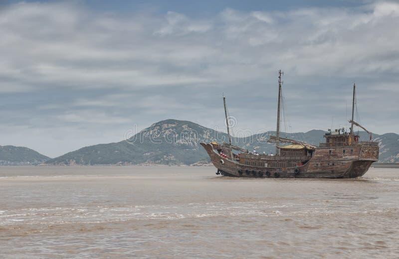 łódkowata chińska dżonka obraz stock