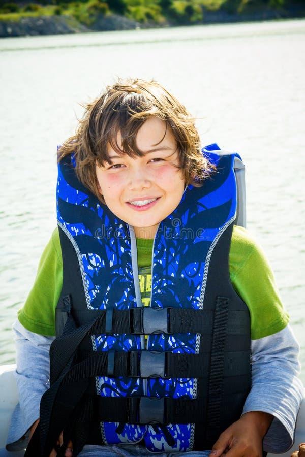 łódkowata dzieci podróży woda fotografia royalty free