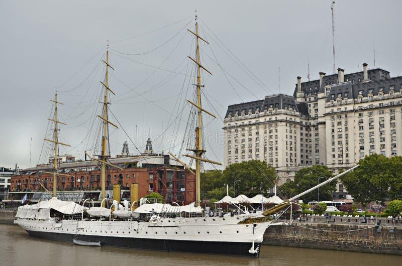 Łódkowata muzealna fregata Sarmiento zdjęcia stock