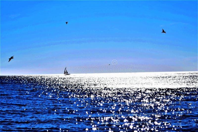 Łódkowata przejażdżka na Migocącej wodzie zdjęcia royalty free