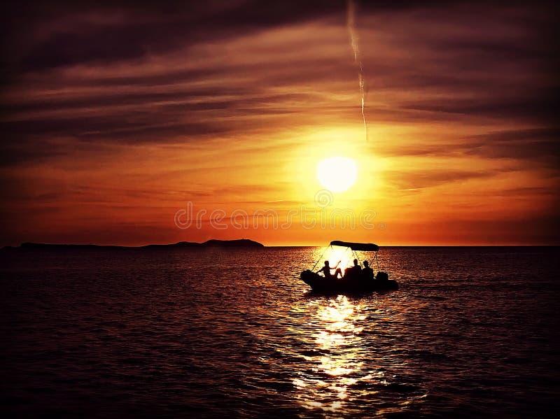 Łódkowata sylwetka zdjęcie stock