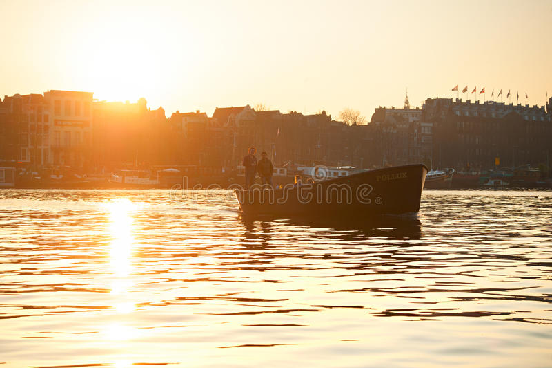 Łódkowata wycieczka, Amsterdam fotografia royalty free