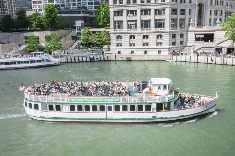 Łódkowata wycieczka turysyczna Chicago fotografia stock
