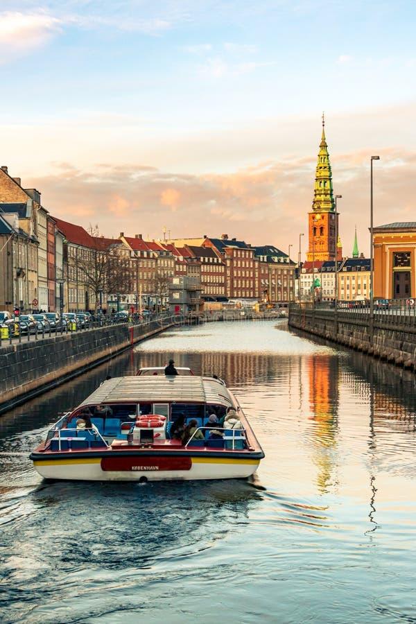??dkowata wycieczka w kanale Kopenhaga zdjęcia royalty free