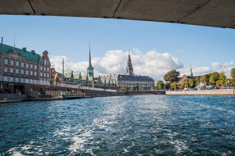 Łódkowata wycieczka w Kopenhaga zdjęcia stock