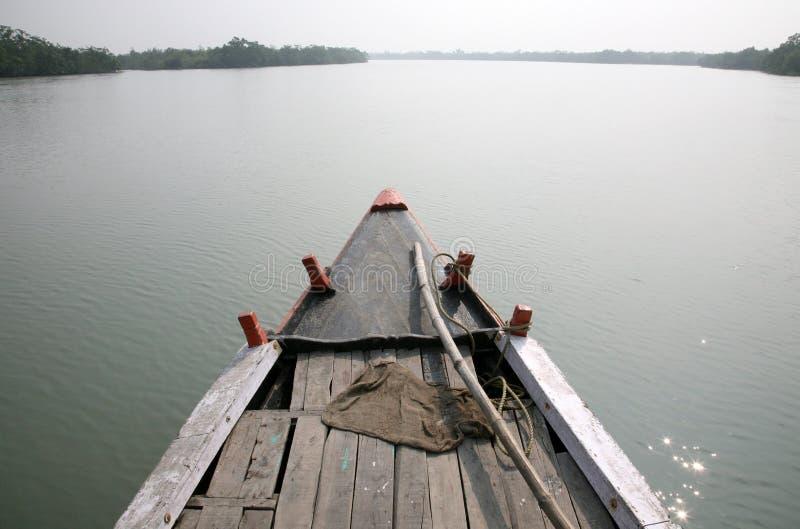 Łódkowata wycieczka w Sundarbans, India obraz stock