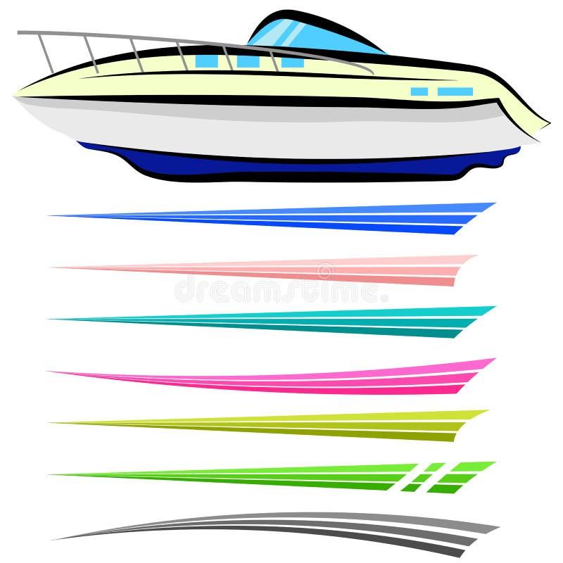 Łódkowate grafika ilustracji