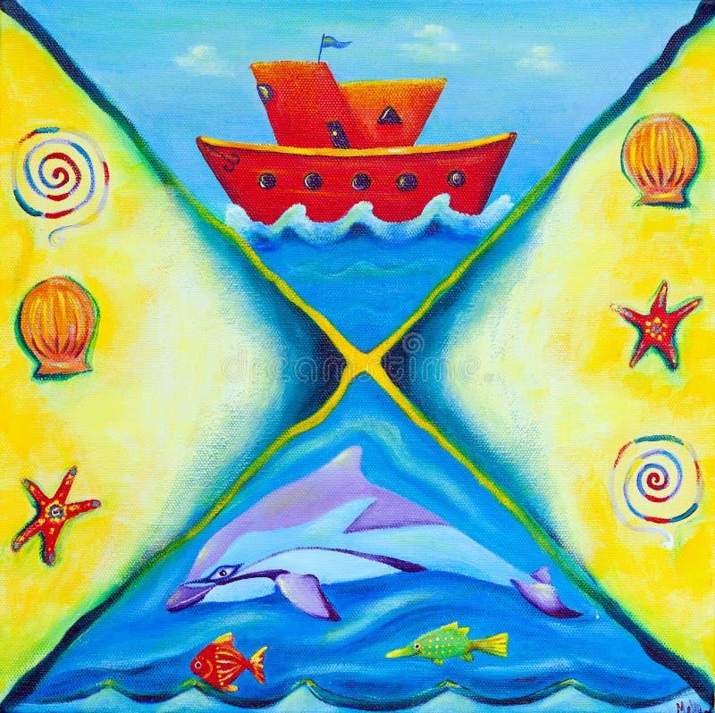 łódkowatego życia morska obrazu czerwień zdjęcia royalty free