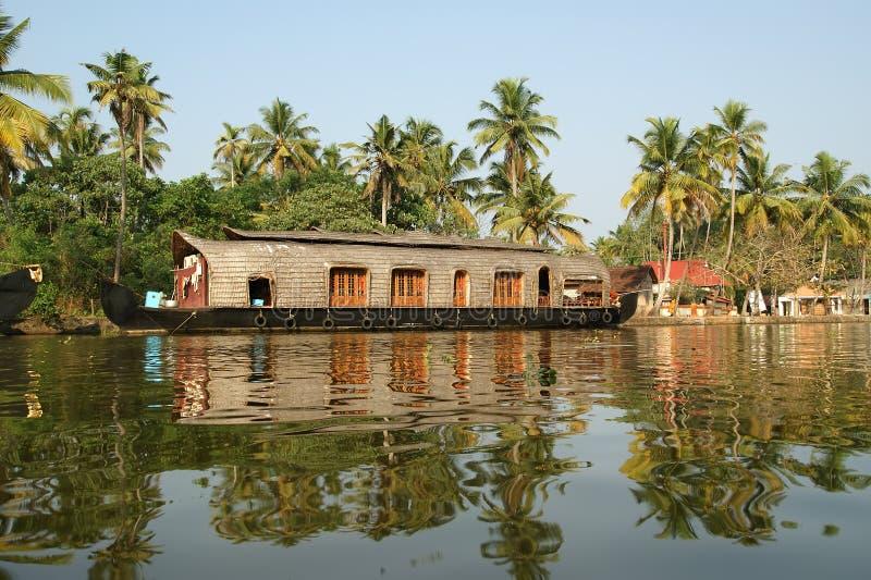 łódkowatego domu ind Kerala zdjęcia stock