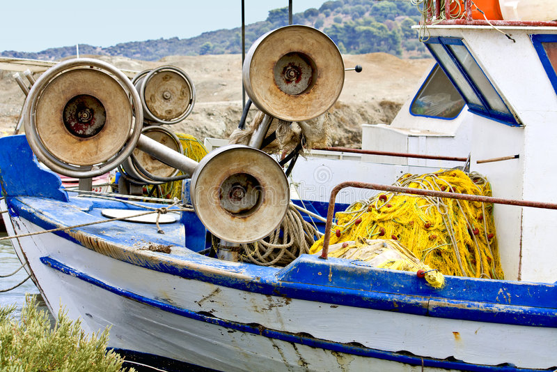 łódkowatego połowu stary tradycyjny zdjęcie royalty free