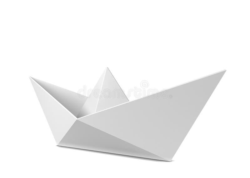 łódkowatego układu rękodzielniczy origami papieru planu wektor ilustracji
