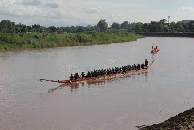 Łódkowaty ścigać się w Tajlandia zdjęcia royalty free