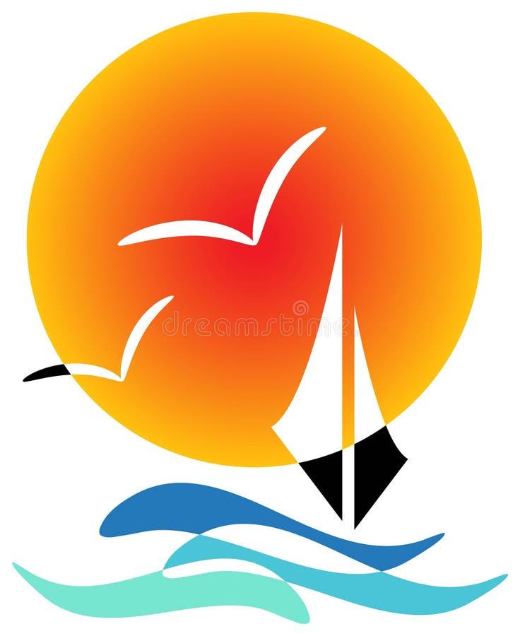 łódkowaty żagiel ilustracji