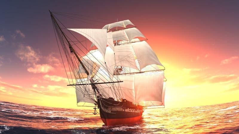 łódkowaty żeglowanie ilustracji