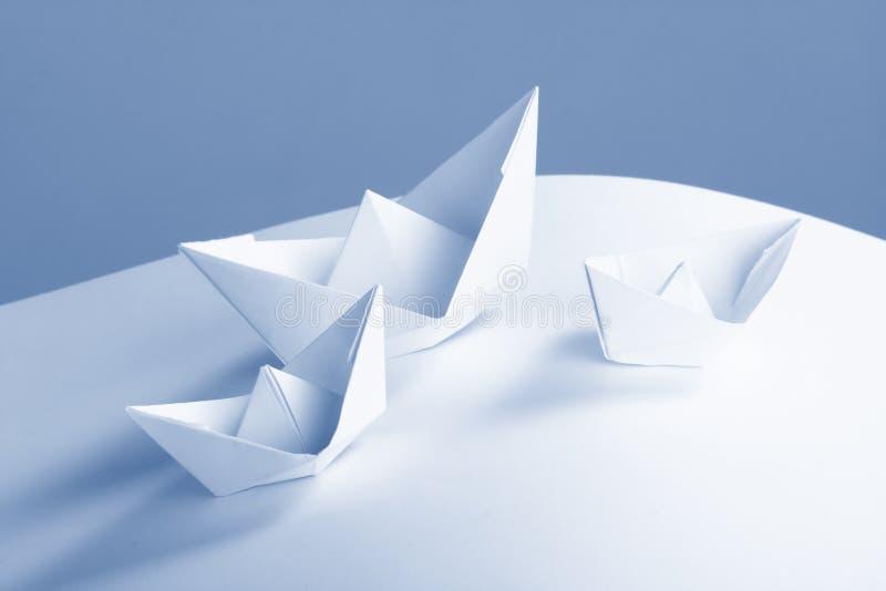 łódkowaty biznesowy pojęcia dokumentów papier obraz stock