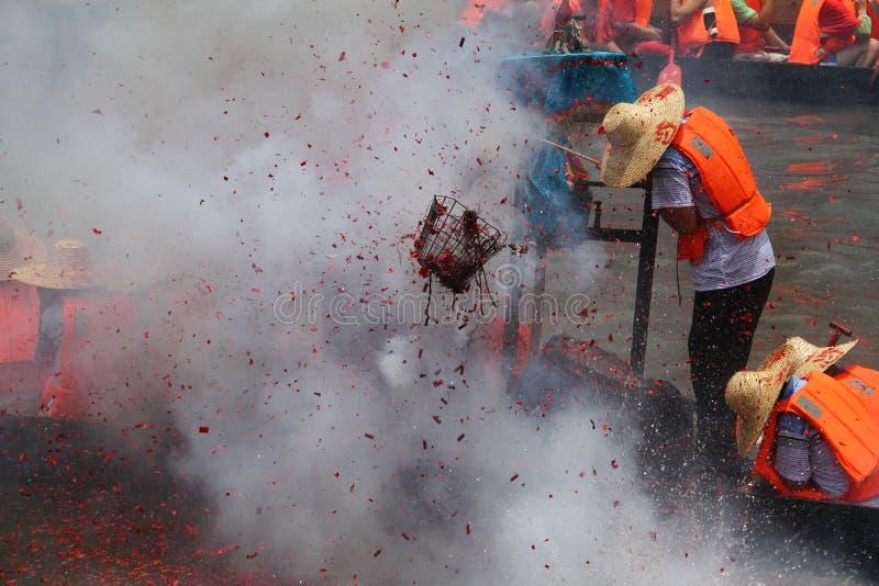 łódkowaty chiński smoka festiwalu rasy vill obrazy stock