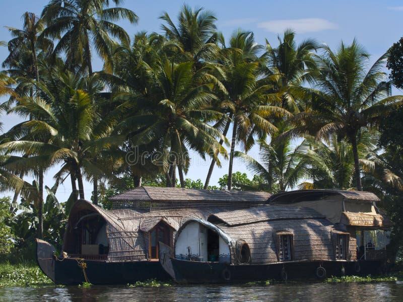łódkowaty dom Kerala zdjęcie royalty free