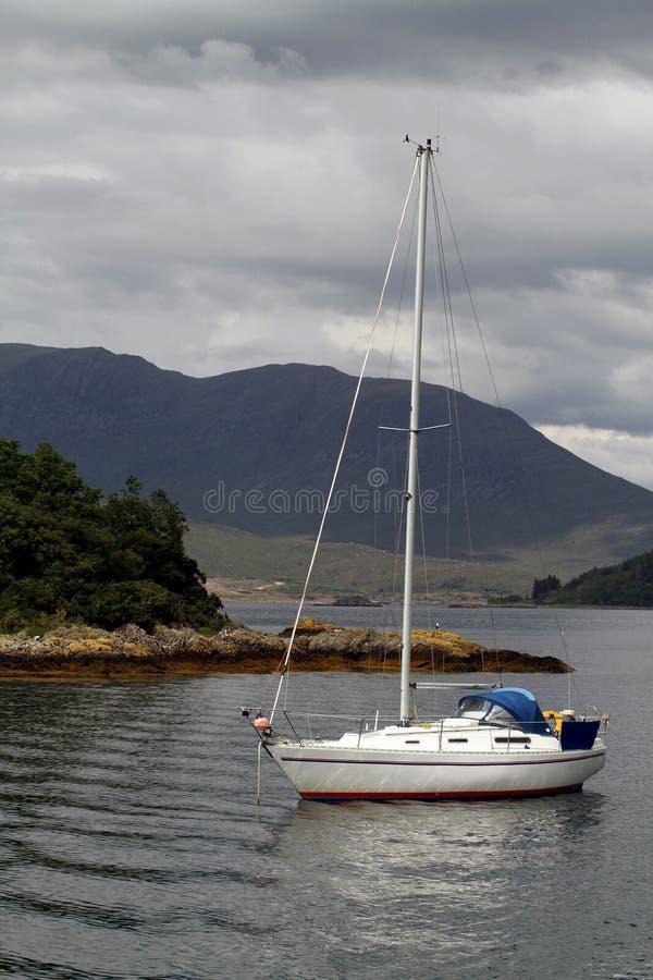 łódkowaty jeziorny scottish zdjęcie royalty free