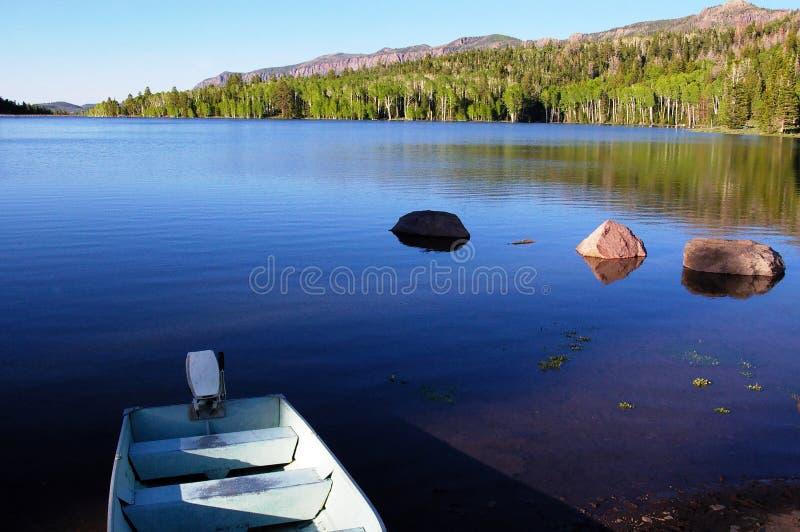 łódkowaty jezioro fotografia royalty free