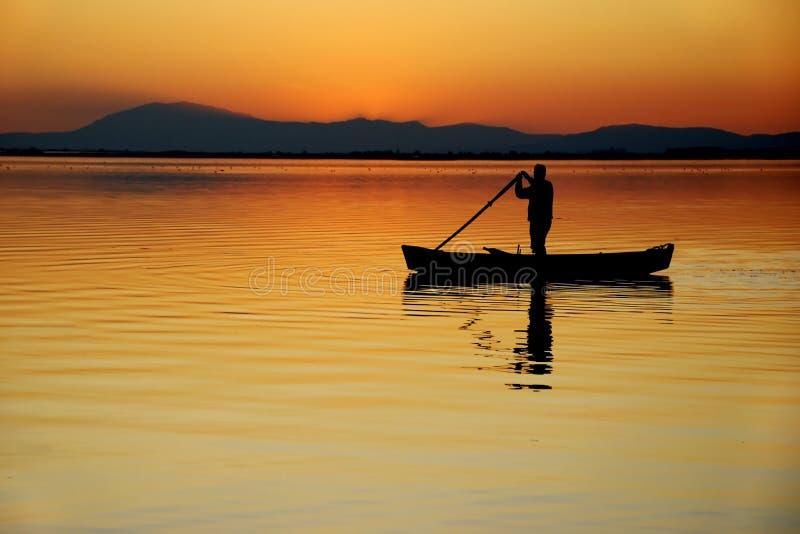 łódkowaty jezioro obrazy royalty free