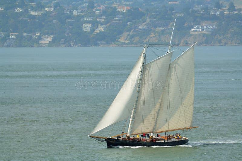 łódkowaty klasyczny żagiel fotografia royalty free