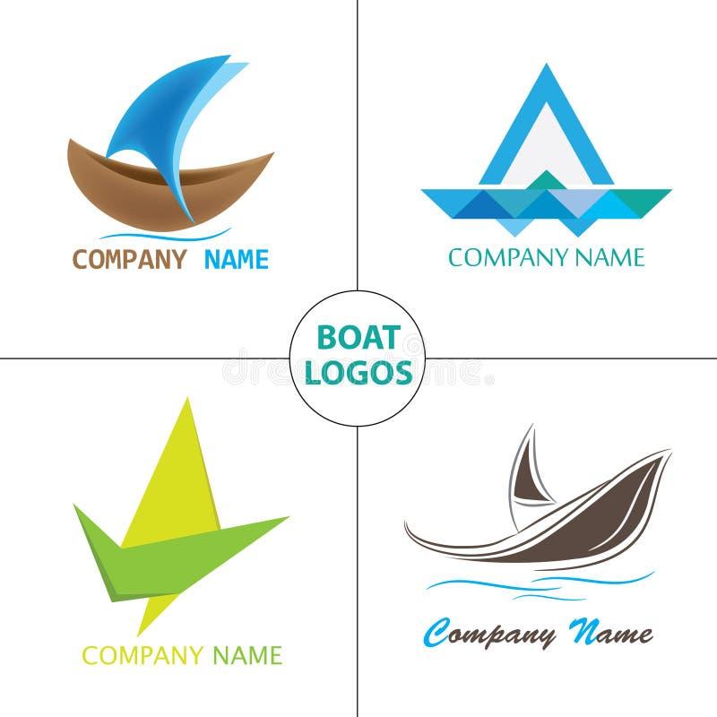 Łódkowaty logo ilustracja wektor