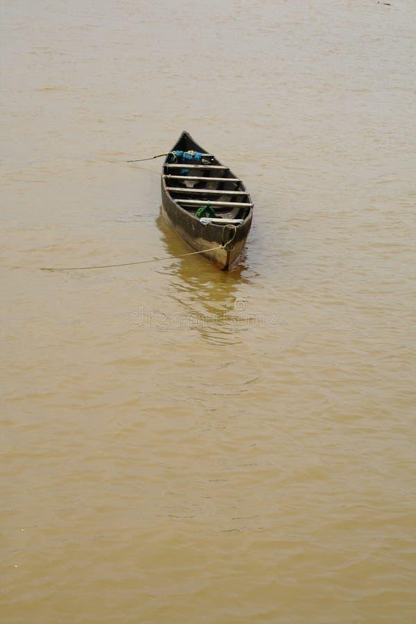 łódkowaty mały drewniany fotografia royalty free