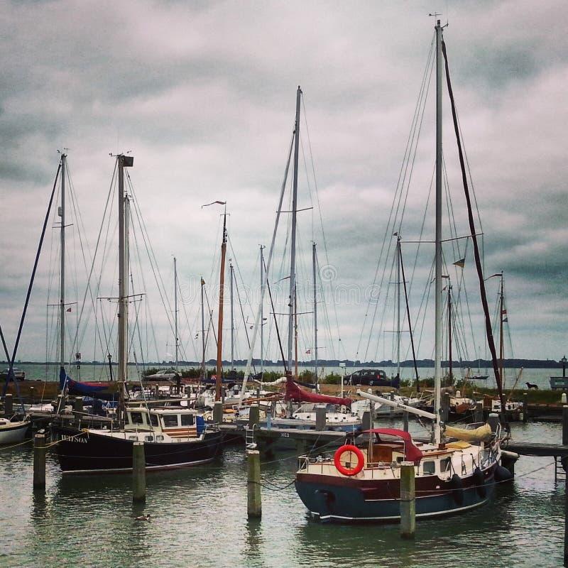 Łódkowaty Marina zdjęcie stock