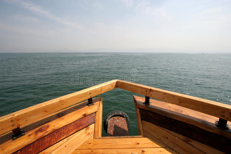 łódkowaty morze zdjęcie stock