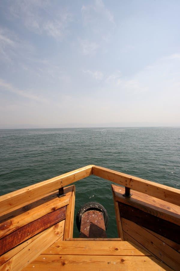 łódkowaty morze obraz stock