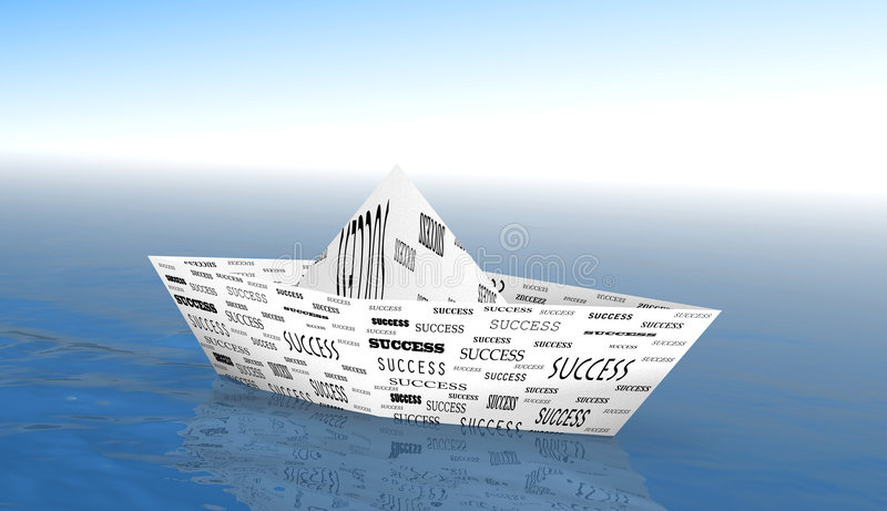 łódkowaty sukces ilustracja wektor