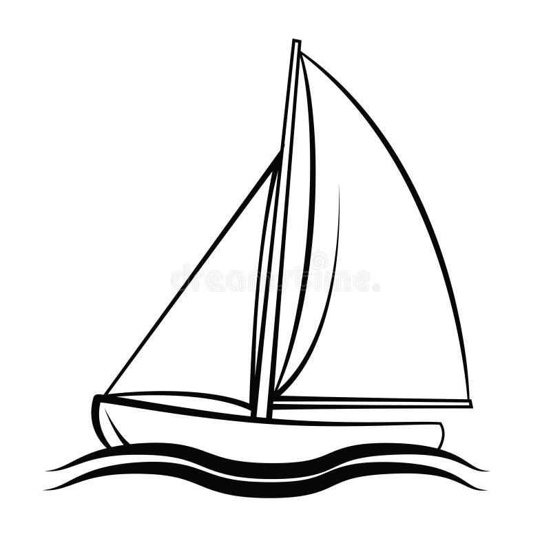 Łódkowaty symbol ilustracja wektor